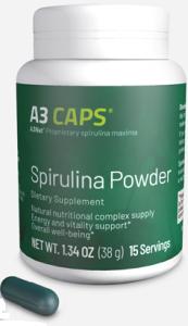 xellis a3 caps is a spirulina powder
