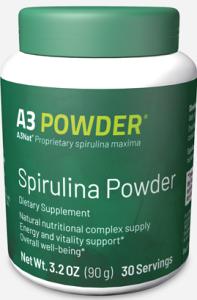 xellis a3 powder is a spirulina powder