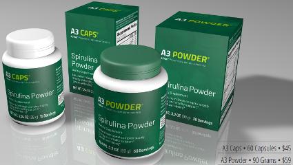 xellis spirulina a3 powder